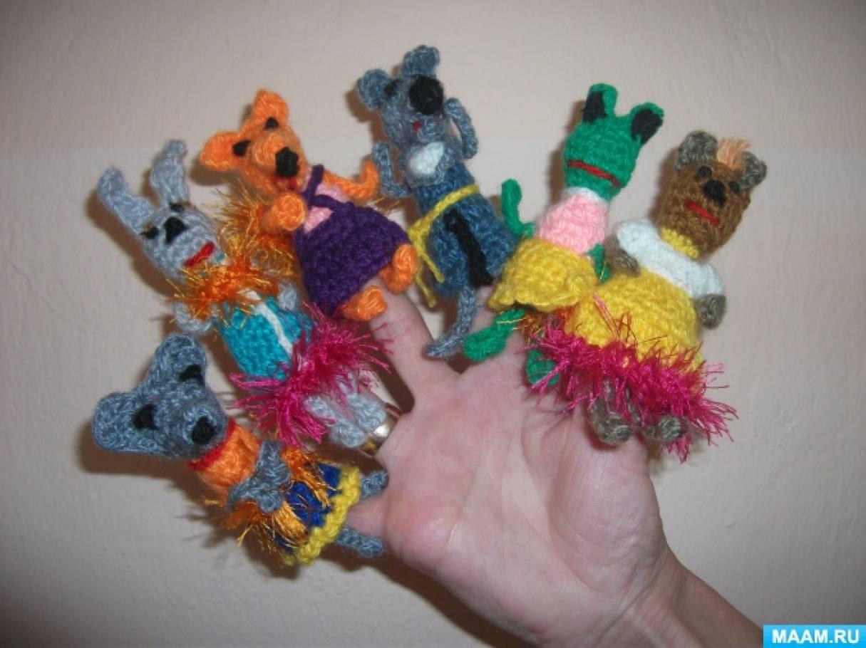 пальчиковый театр по сказке рукавичка вязание крючком