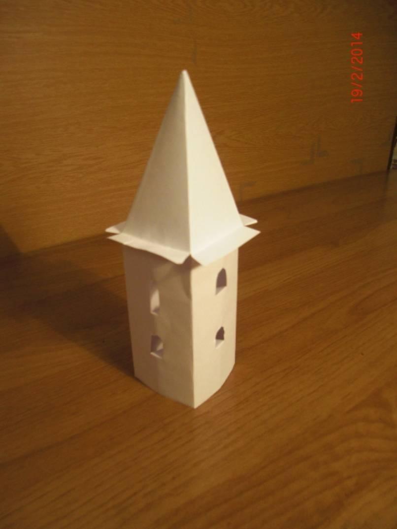 Башни из бумаги к своими руками