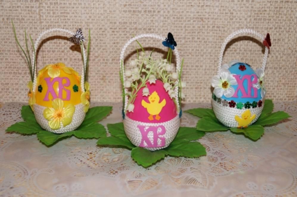 «Подарочные пасхальные яйца» — поделки из бросового материала