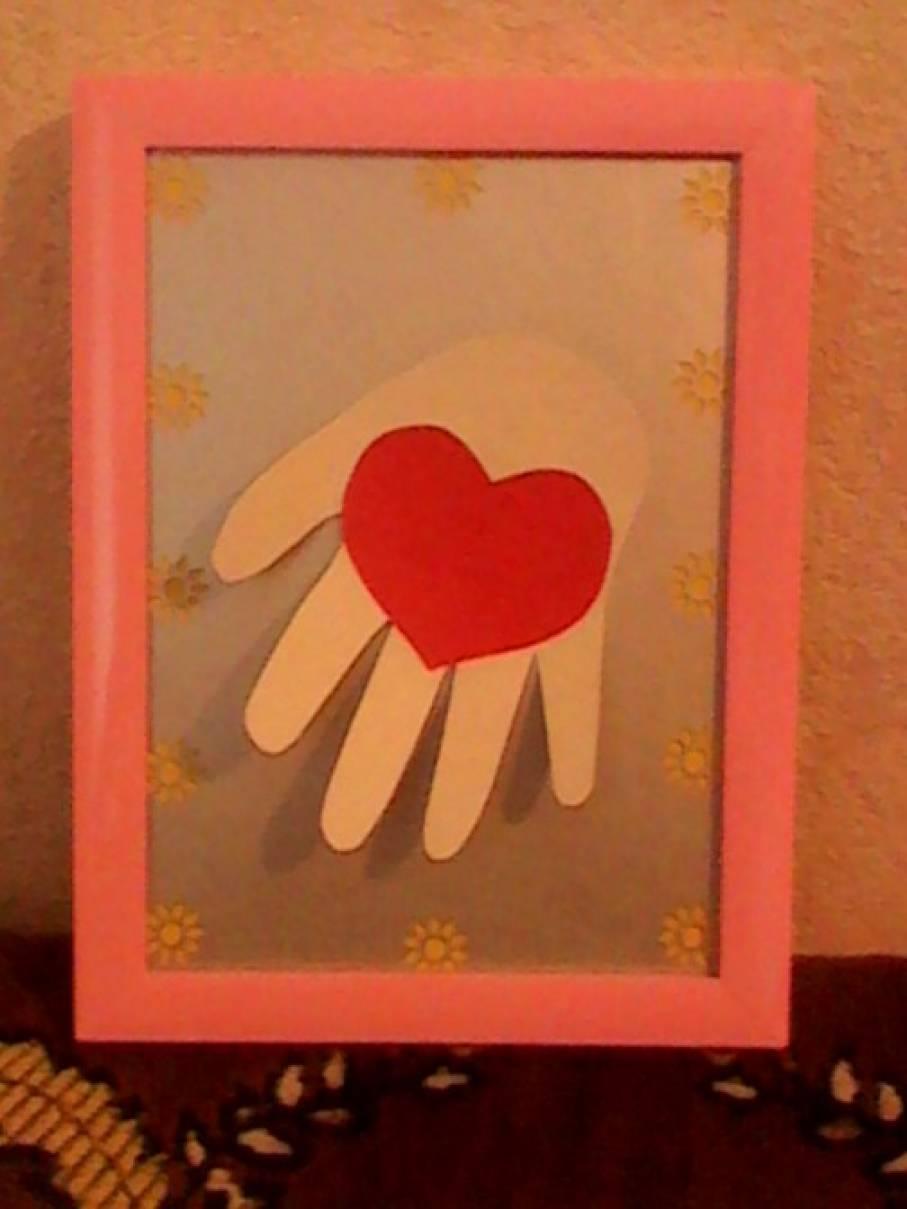 Рисунки девочки, шаблон раскладной открытки в форме ладошек ко дню матери