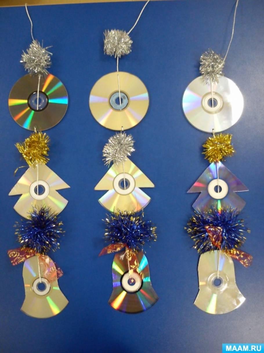 Поделки из дисков на веранду в детском саду 38
