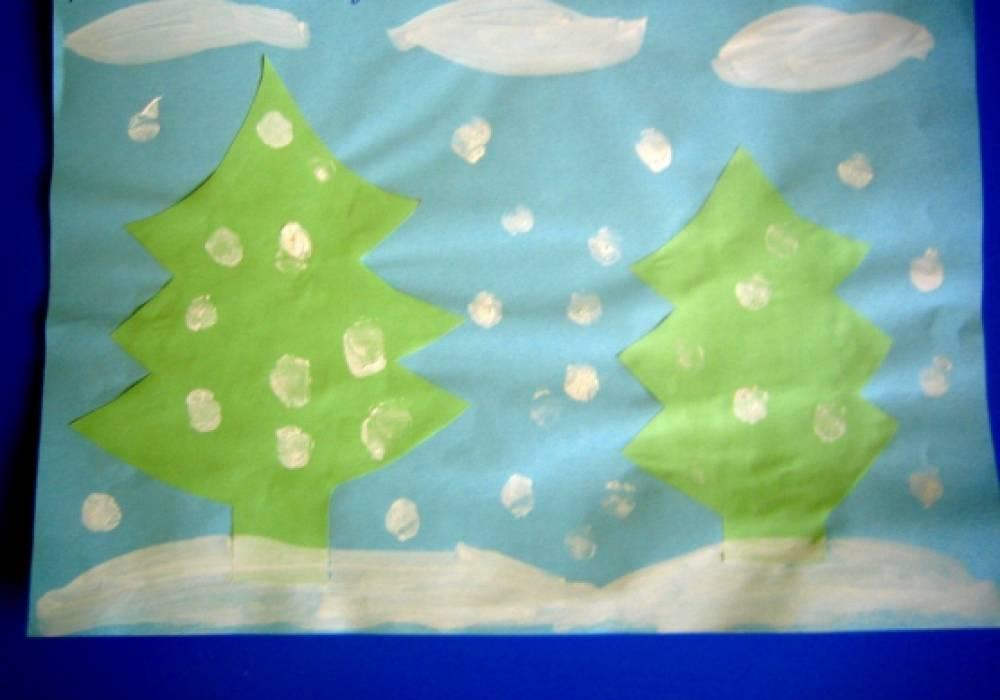 Поделка в детский сад к новому году 3 4 года