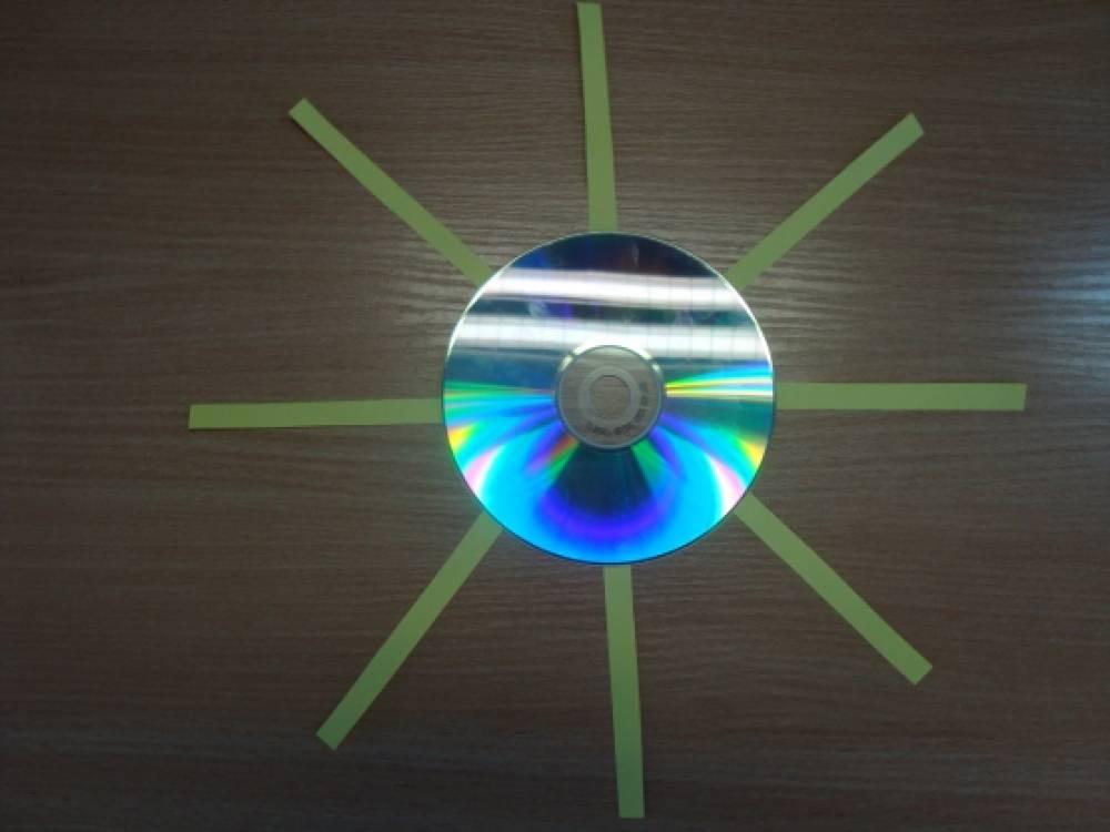 солнышко из дисков картинки этому она смогла