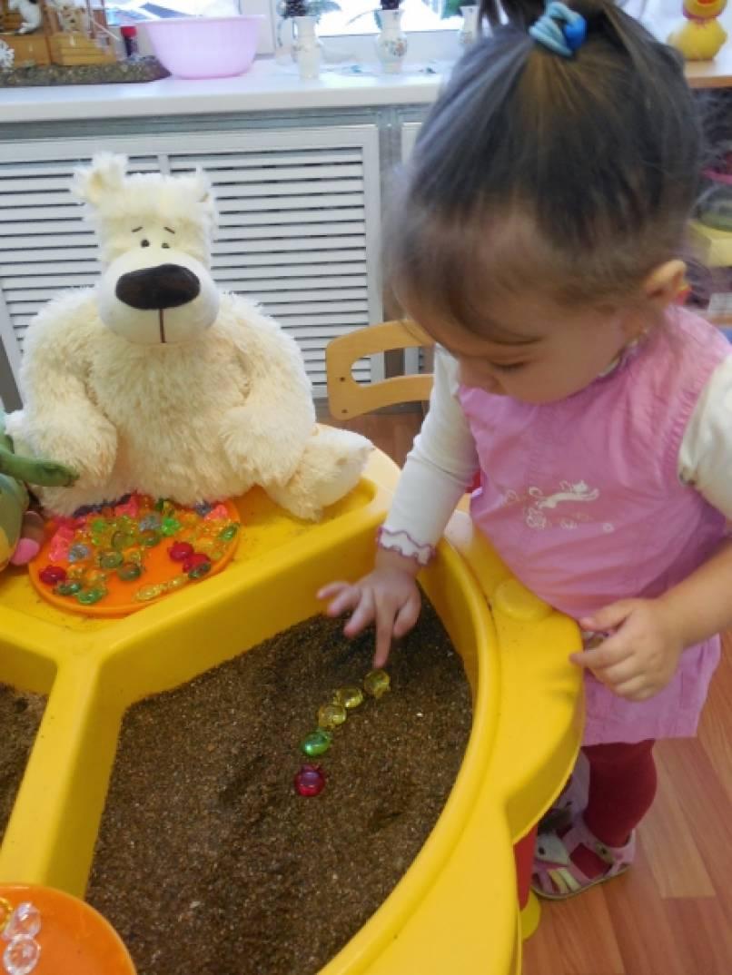 знакомство детей с водой и песком