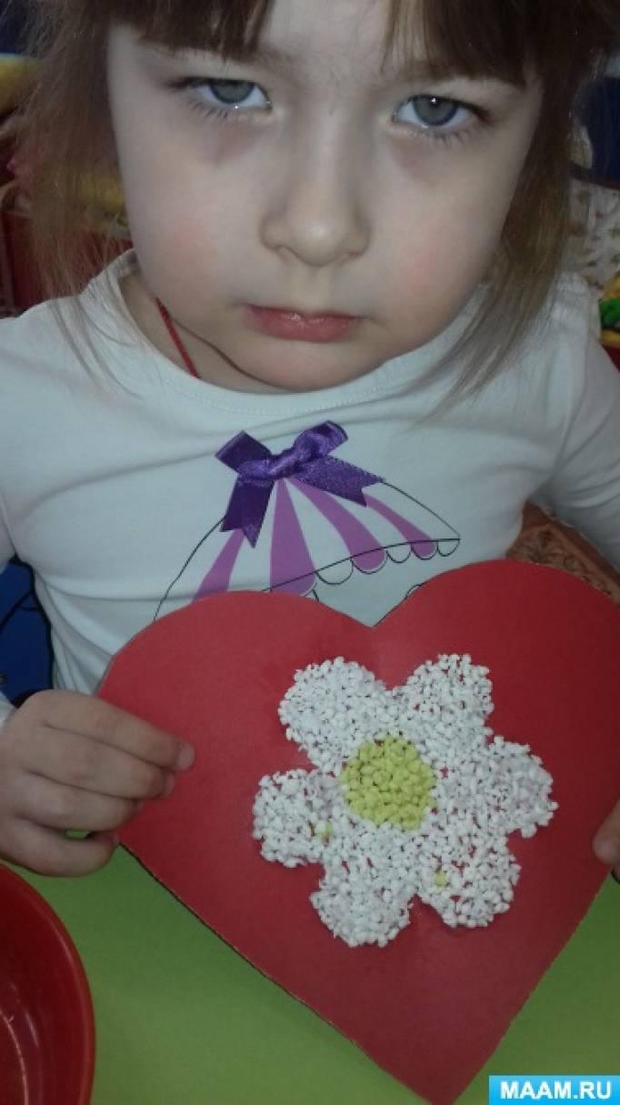 Детский мастер-класс «Валентинки из картона и салфеток»