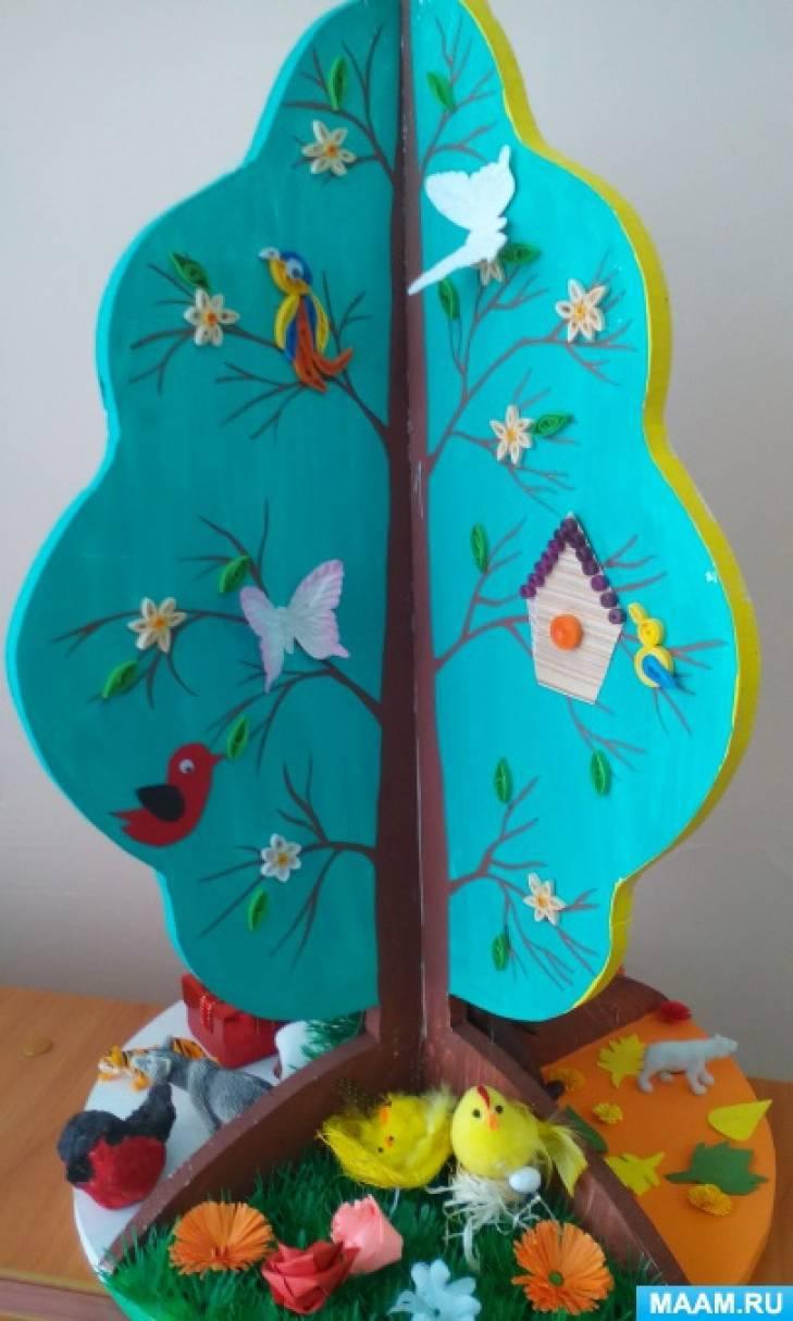 Дидактическое дерево по сезонам в стиле «квиллинг»