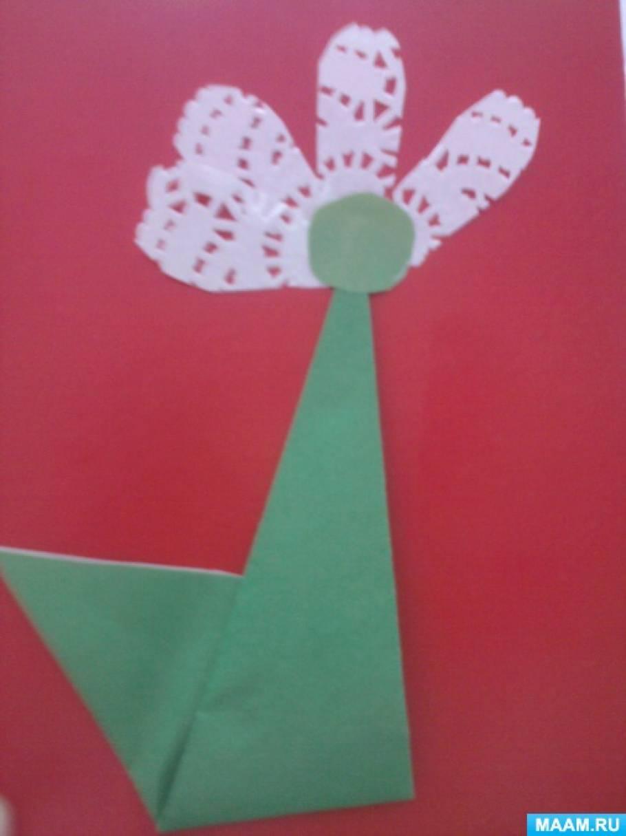 Мастер-класс для детей старшего дошкольного возраста по оригами «Подснежник для мамы»