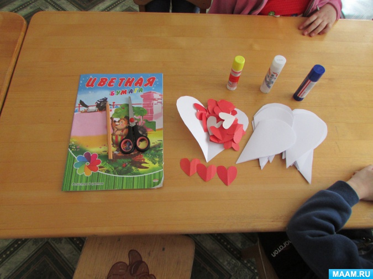 Фотоотчет «Открытки на День Святого Валентина в старшей группе»