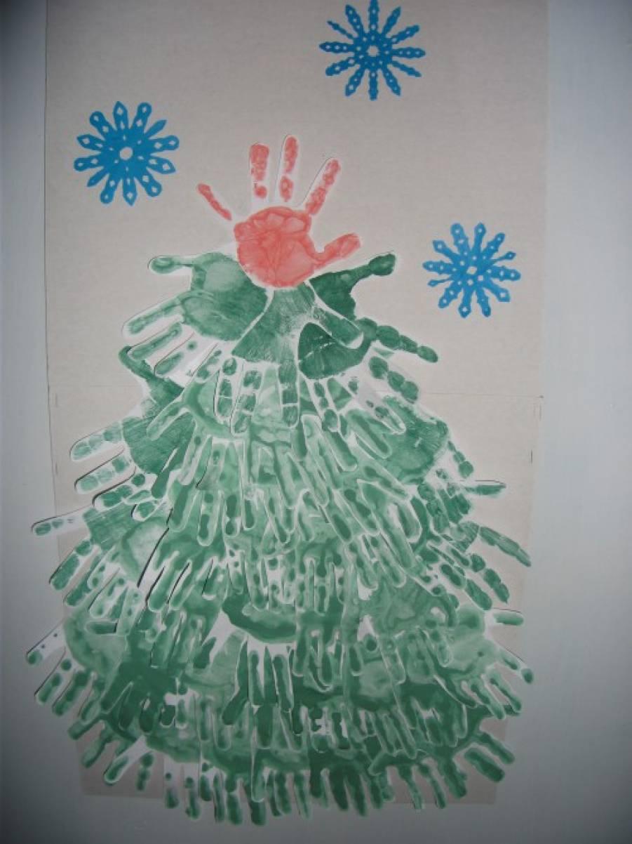Новогодние открытки рисунок гуашью