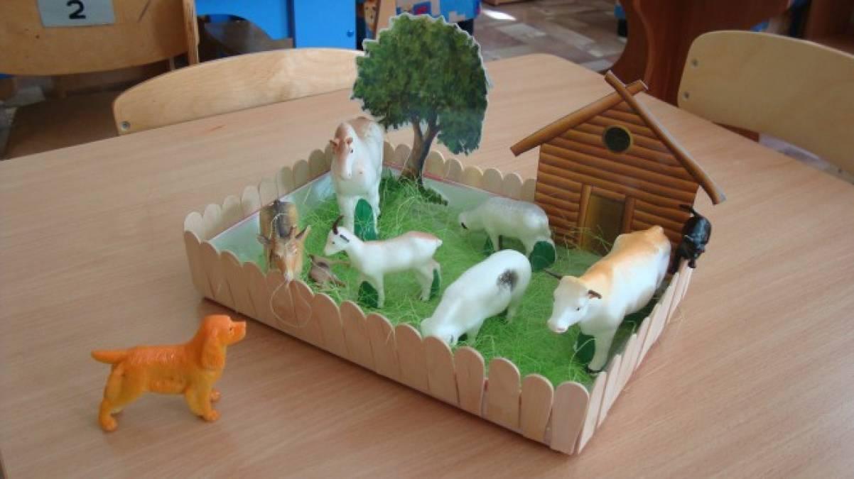 Макет для сюжетной игры в детском саду «Ферма» своими руками
