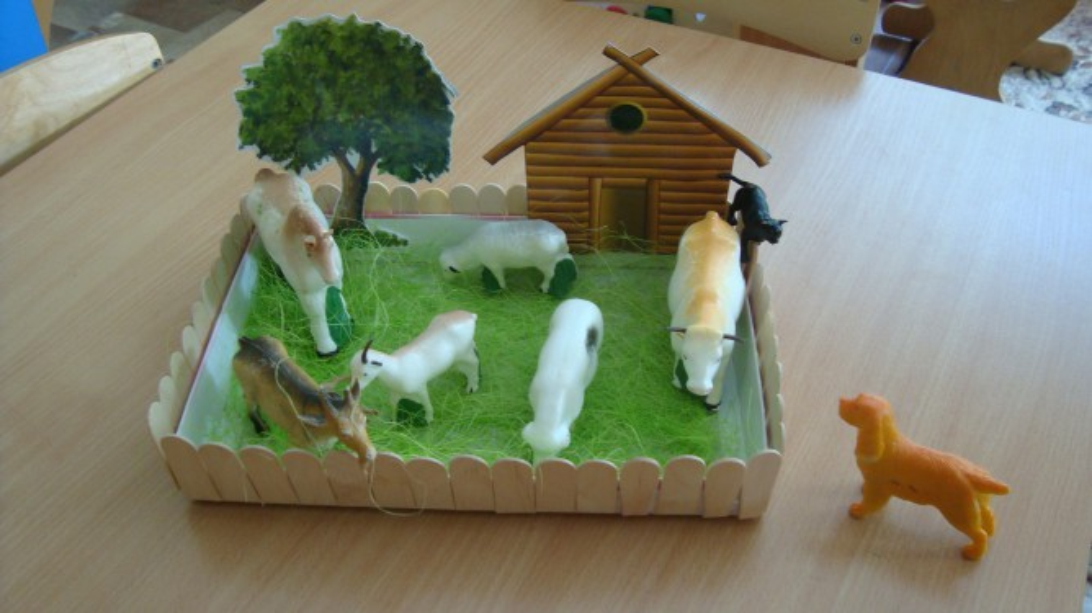 Домашние животные в детском саду своими руками 257