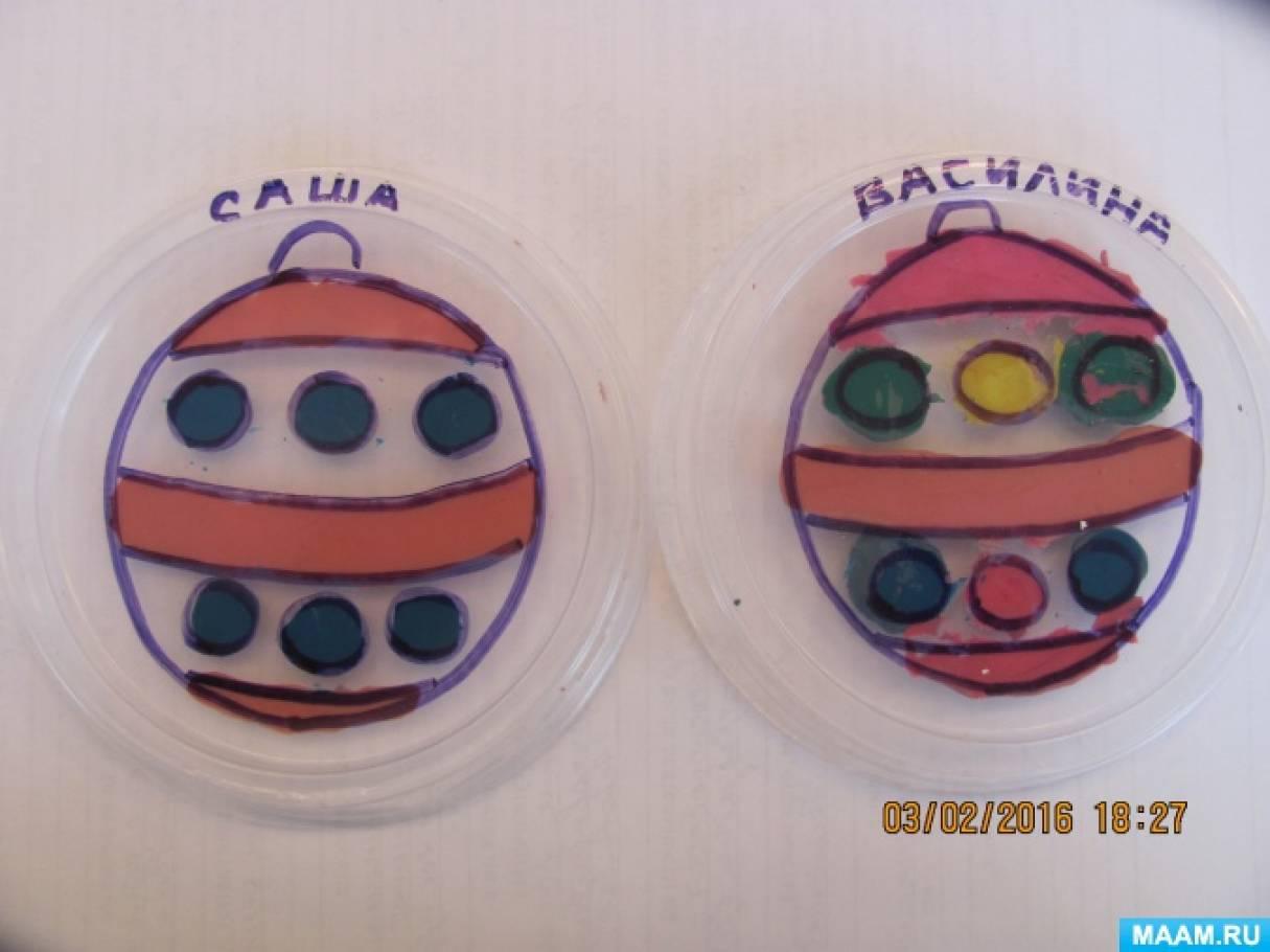 Занятие по пластилинографии «Работа на крышках и коробках от дисков»