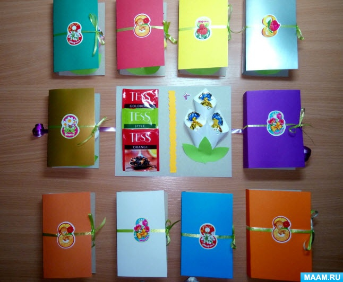 Мастер-классы сладкие открытки