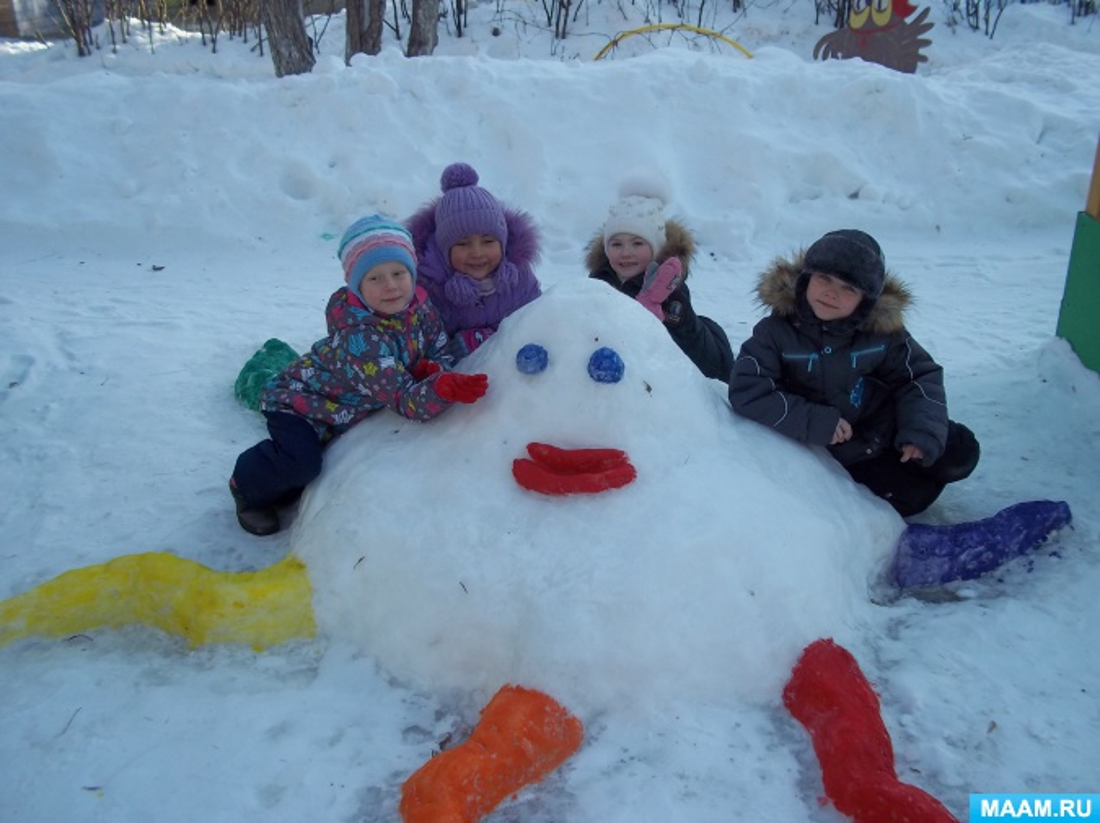 Фотоотчет. Снежные постройки на участке детского сада для зимних игр и забав детей. Лучшее оформление участка