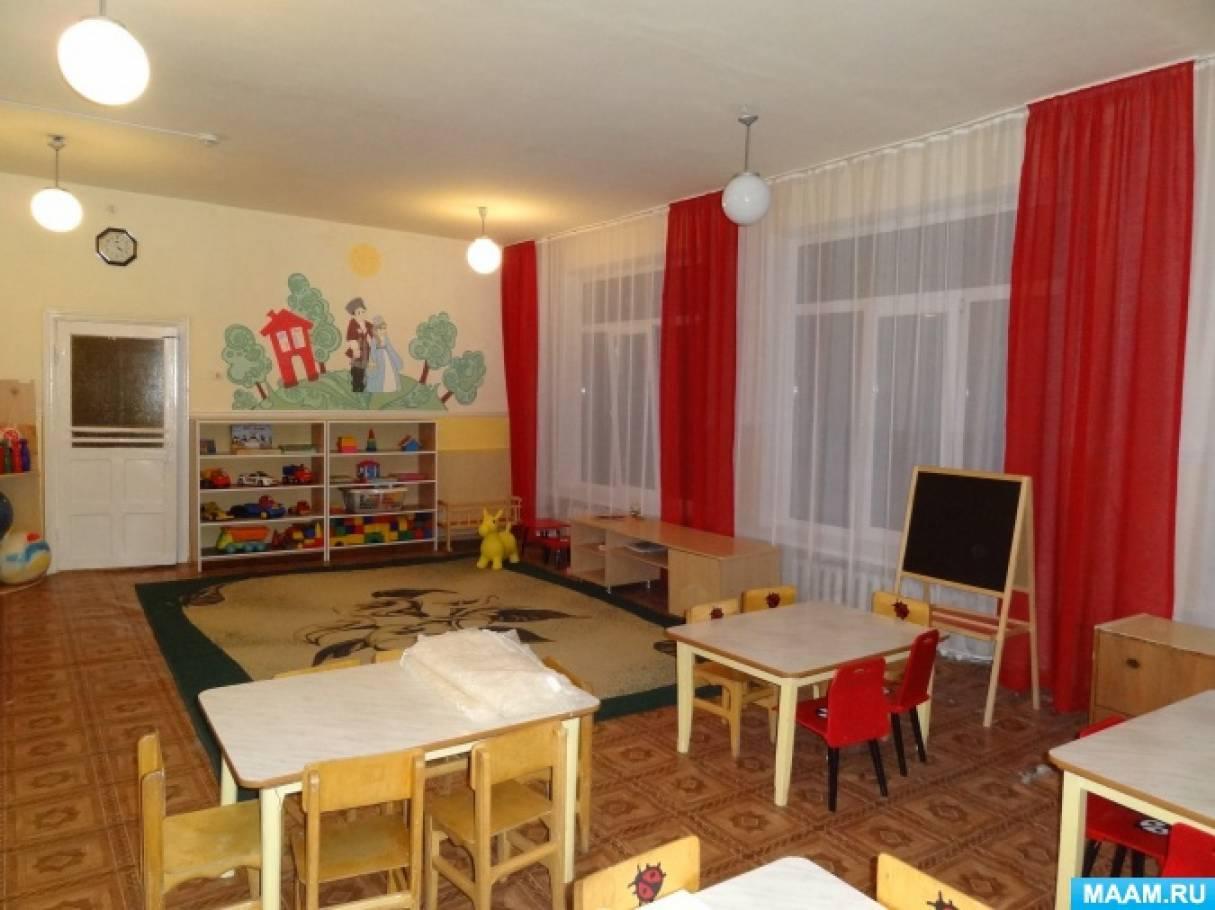 Оформление помещений группы «Божьи коровки» в дошкольном детском образовательном учреждении