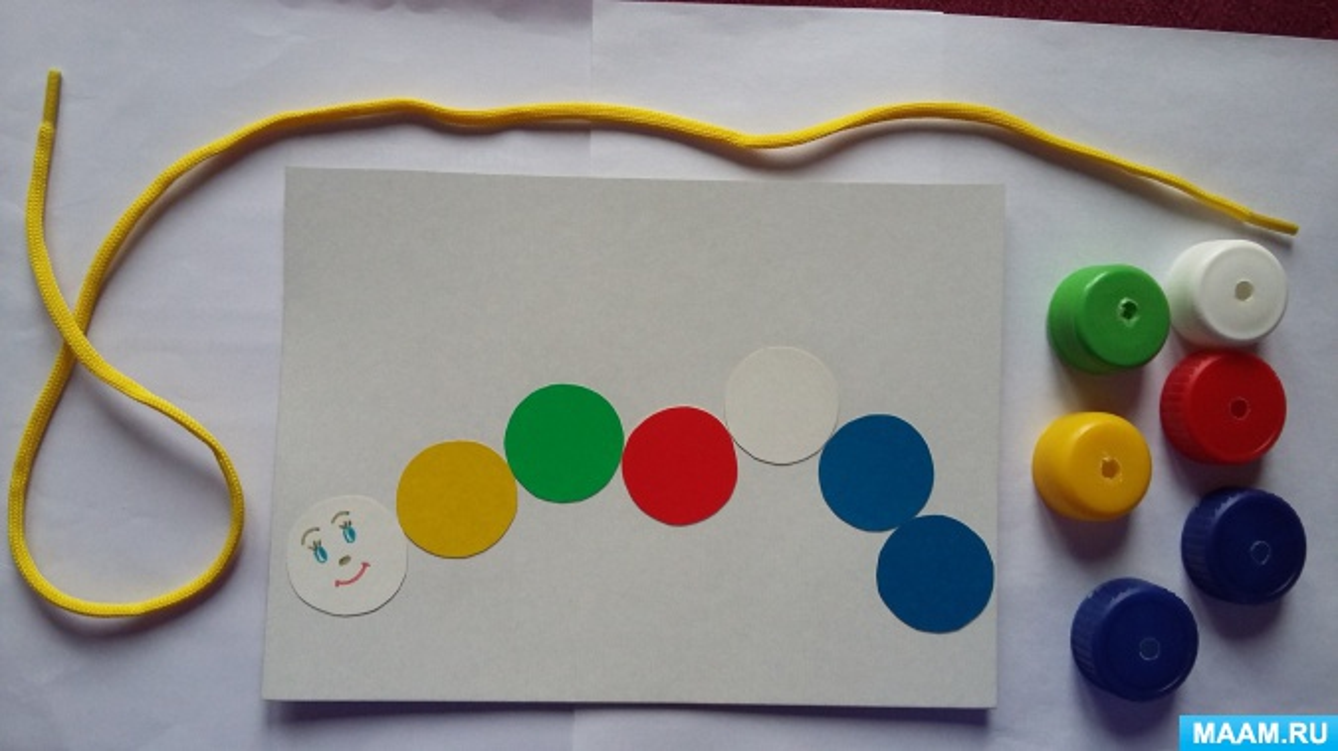 Дидактическая игра «Веселые гусенички» Фотоотчет для детей 3–6 лет