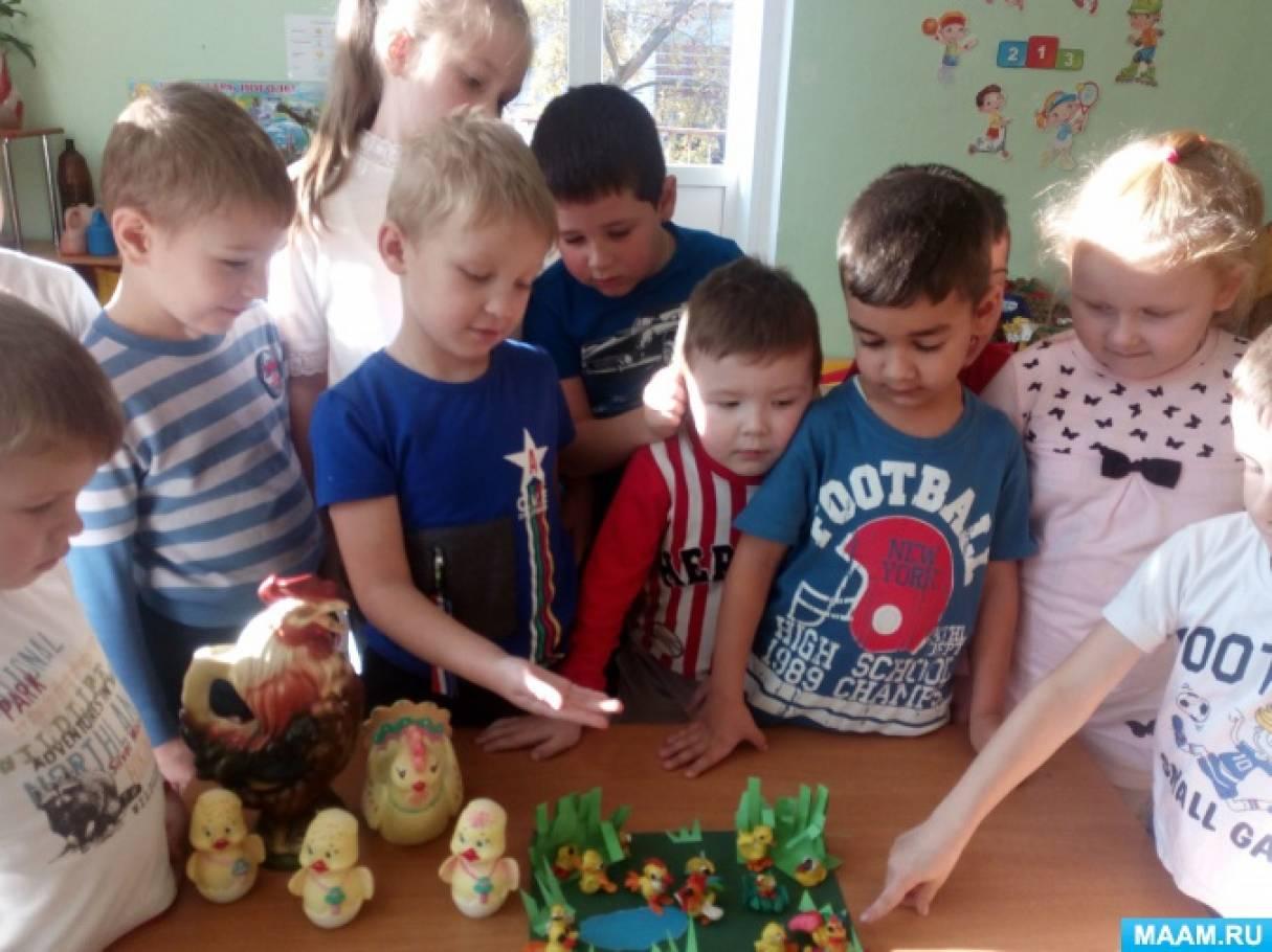 Конспект НОД по лепке «Петушок с семьёй» с детьми старшего дошкольного возраста