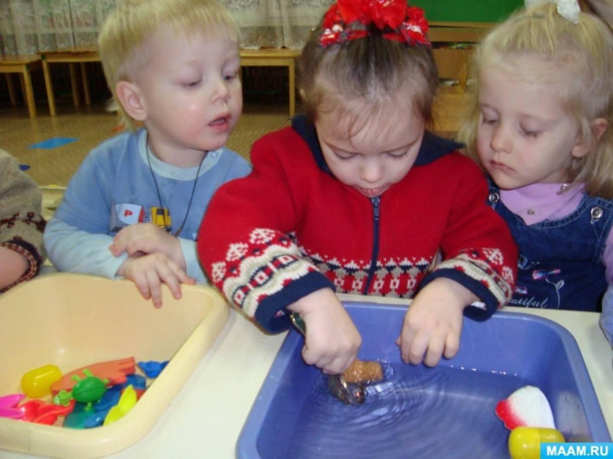 знакомство детей со свойствами воды во 2 младшей группе