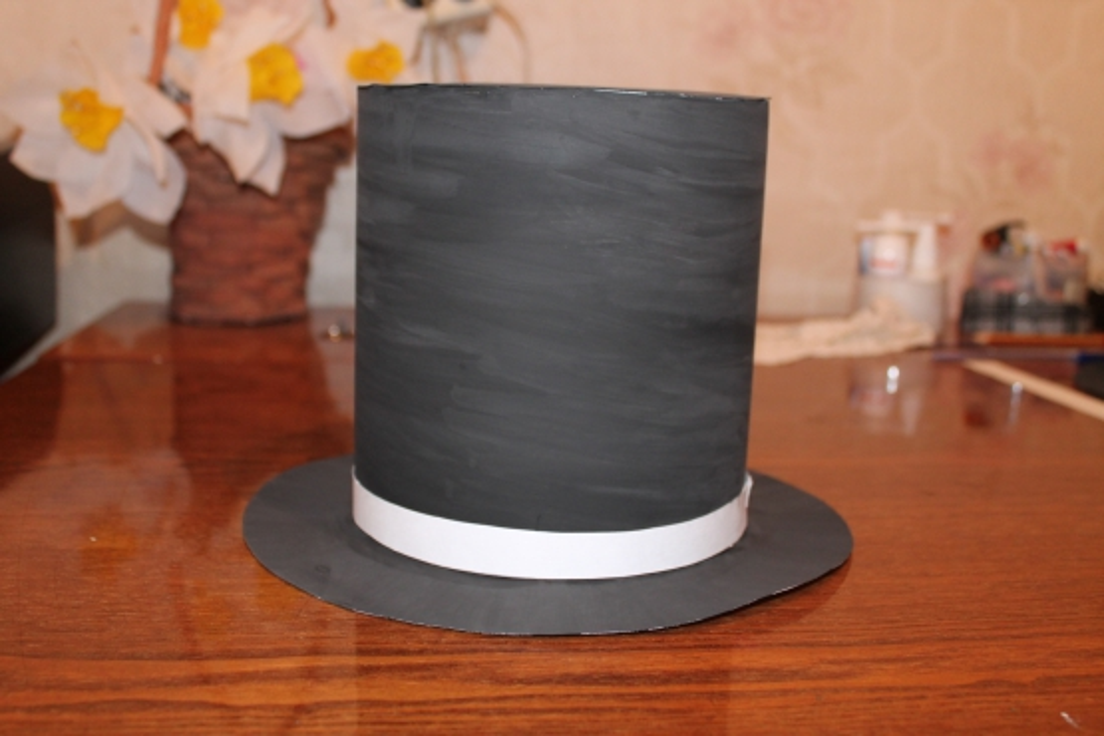 Выкройка шляпы цилиндра из картона
