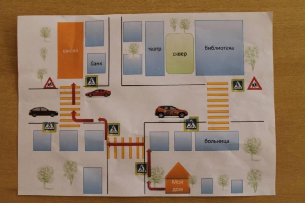 Как нарисовать безопасный маршрут от дома до школы схема фото