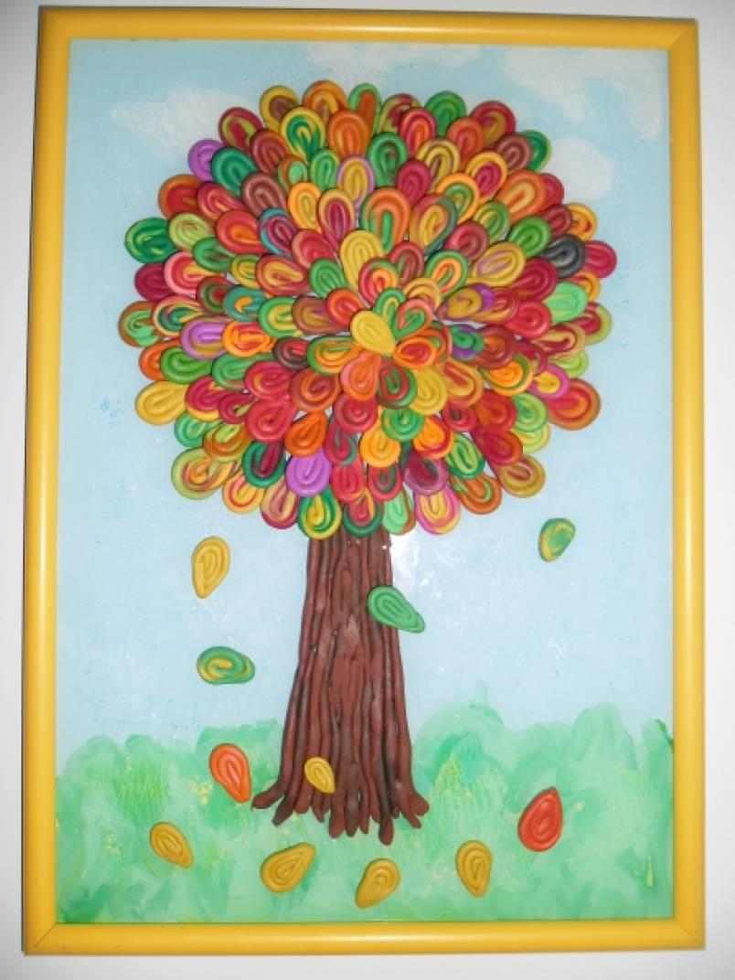 Картинки для аппликации пластилином на тему осень