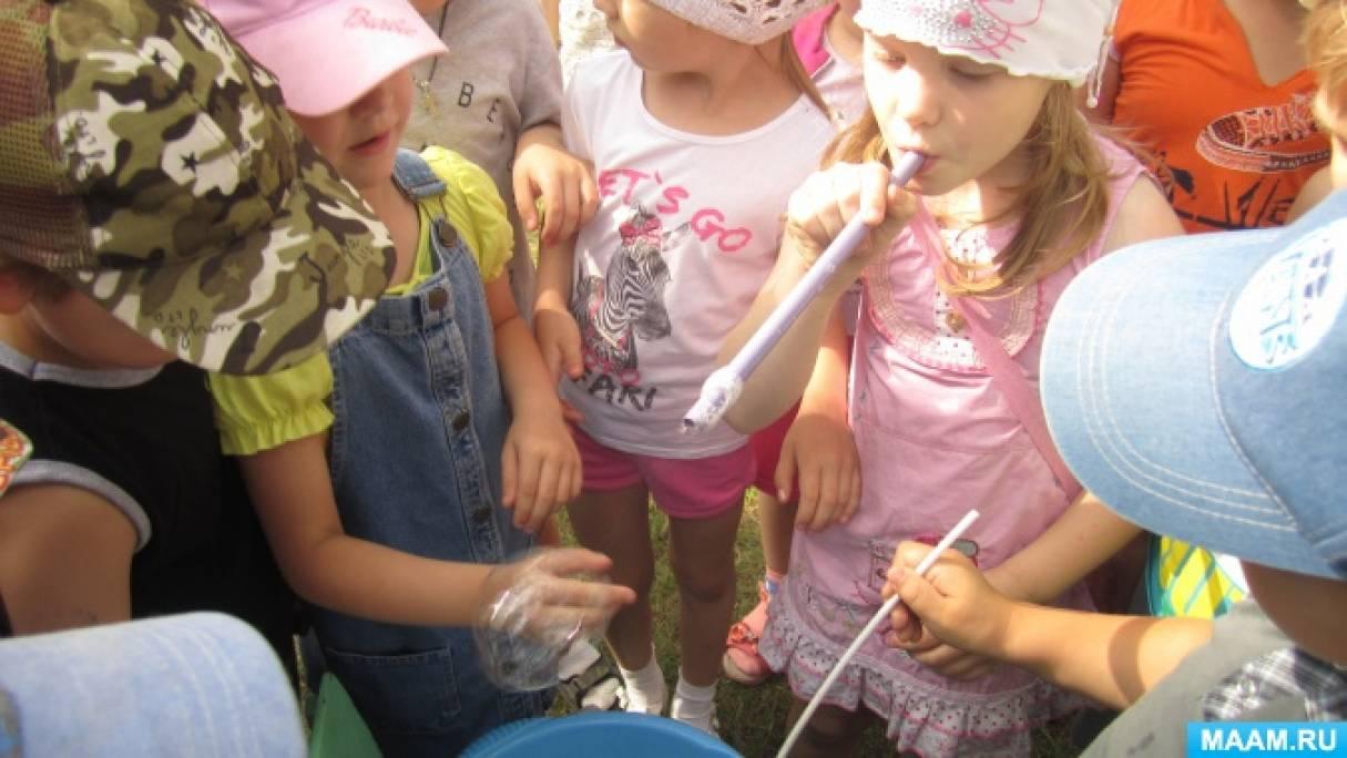 Сценарий летнего развлечения для старших дошкольников «Мы дуем, дуем и надуем»