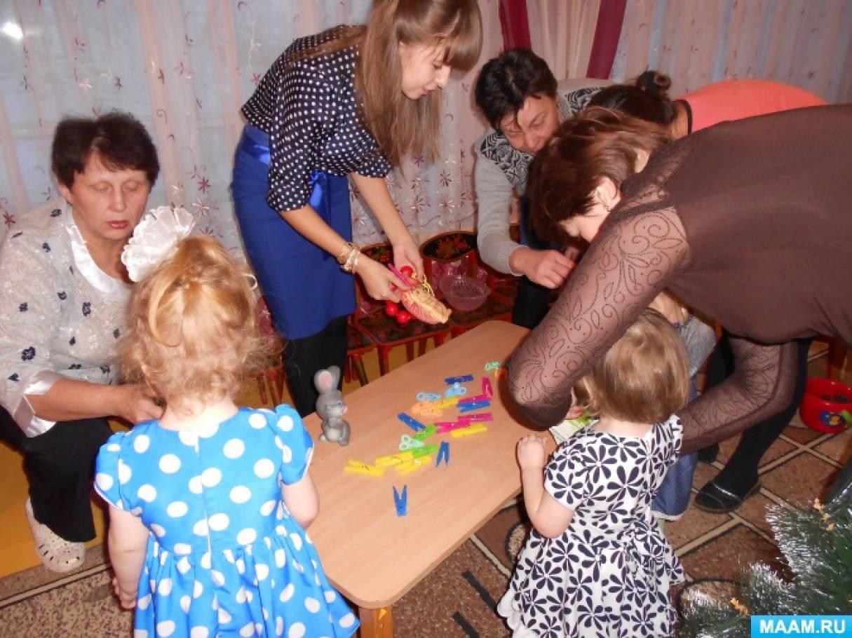 Конспект ООД по развитию речи во второй группе раннего возраста совместно с родителями «Лисичкины бусы»
