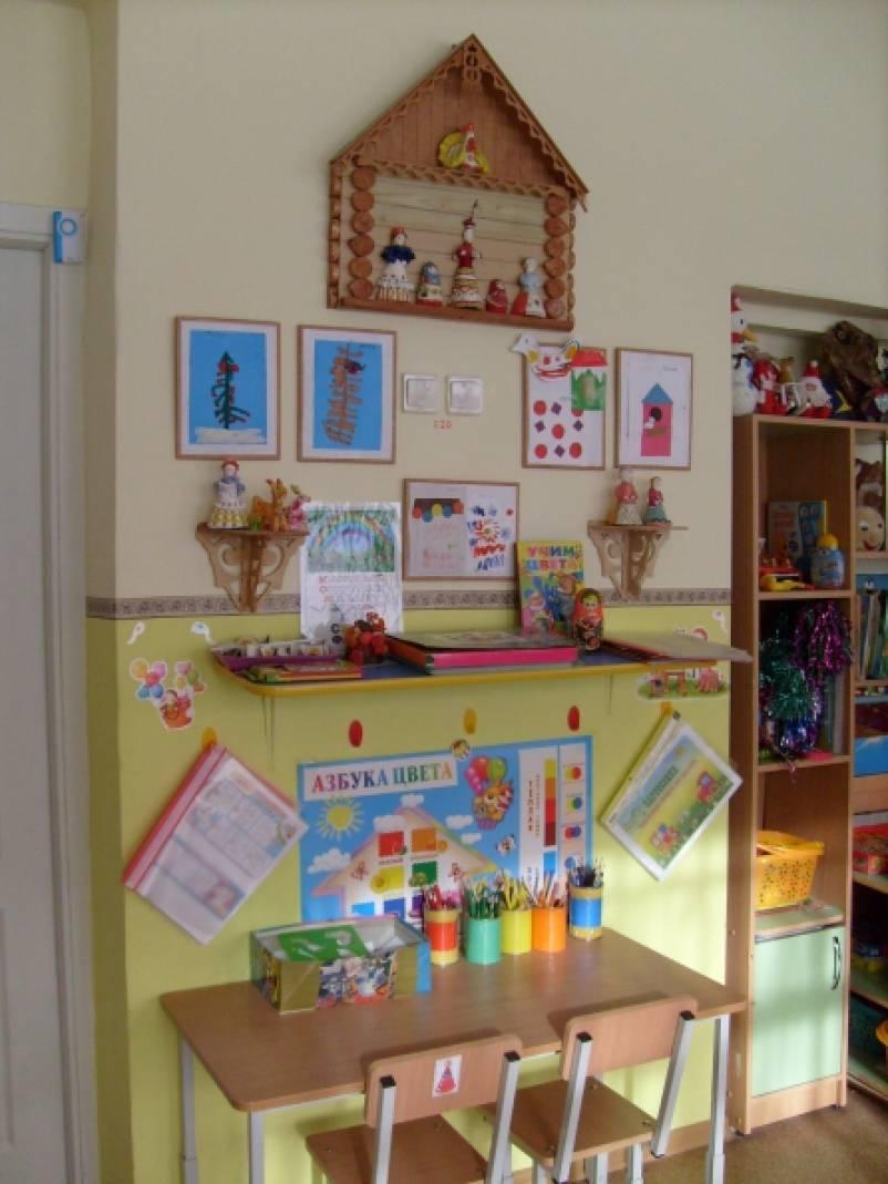 Рисования уголок в детском саду оформление фото