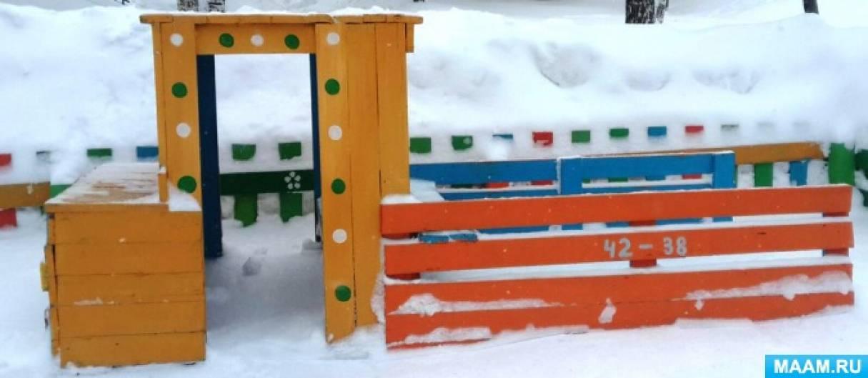 Оформление зимнего участка «К заиньке в гости»