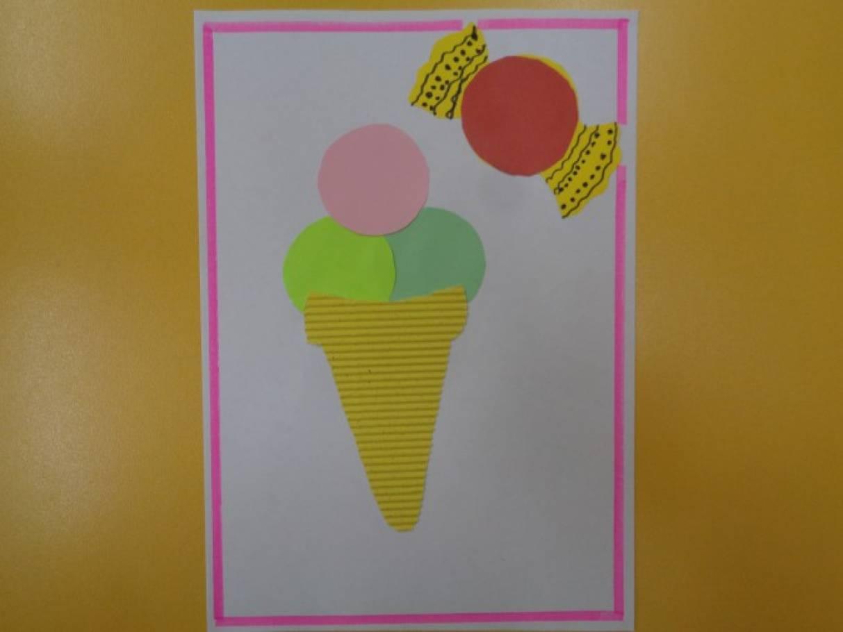 Аппликация мороженого в средней группе