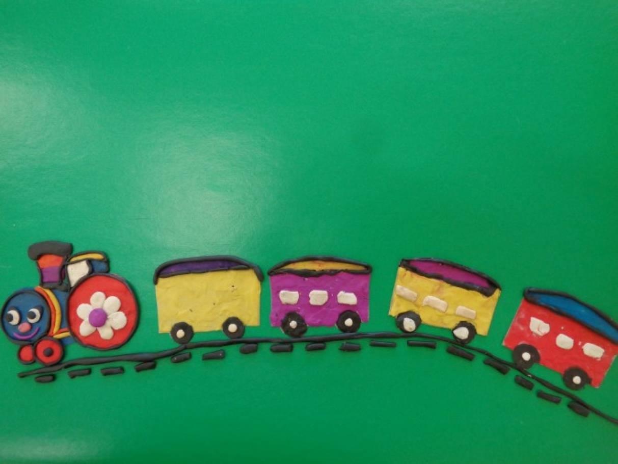 рисунки картинка паровоз из пластилина привычку носить