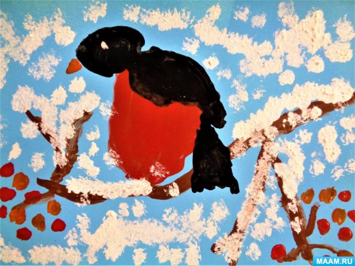 Рисование гуашью в старшей логопедической группе «На рябиновую ветку сел рубиновый снегирь»