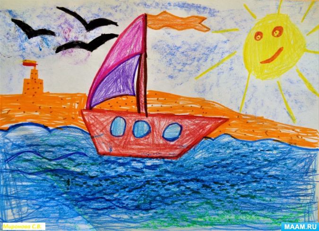 План-конспект ООД по рисованию «Я в весенний ручеёк запущу кораблик» с детьми старшей логопедической группы