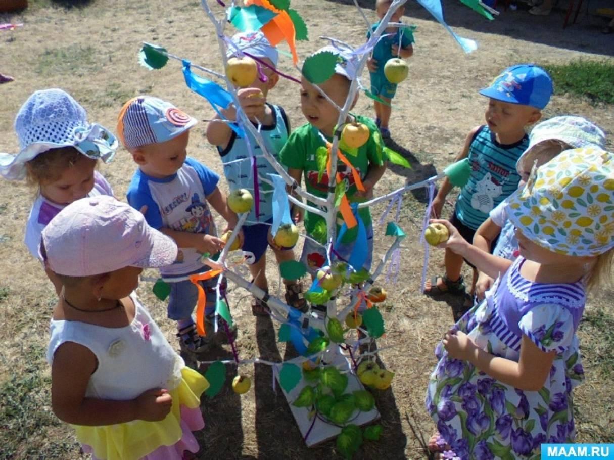 Сценарий развлечения яблочного спаса в детском саду