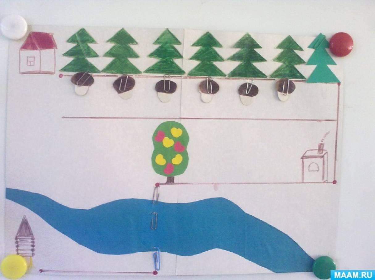 Конспект организованной образовательной деятельности по познавательному развитию в старшей группе «Гуси-лебеди»