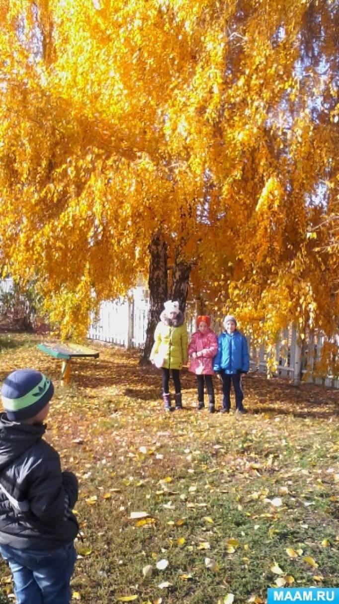 Конспекты прогулок в гпд осенью