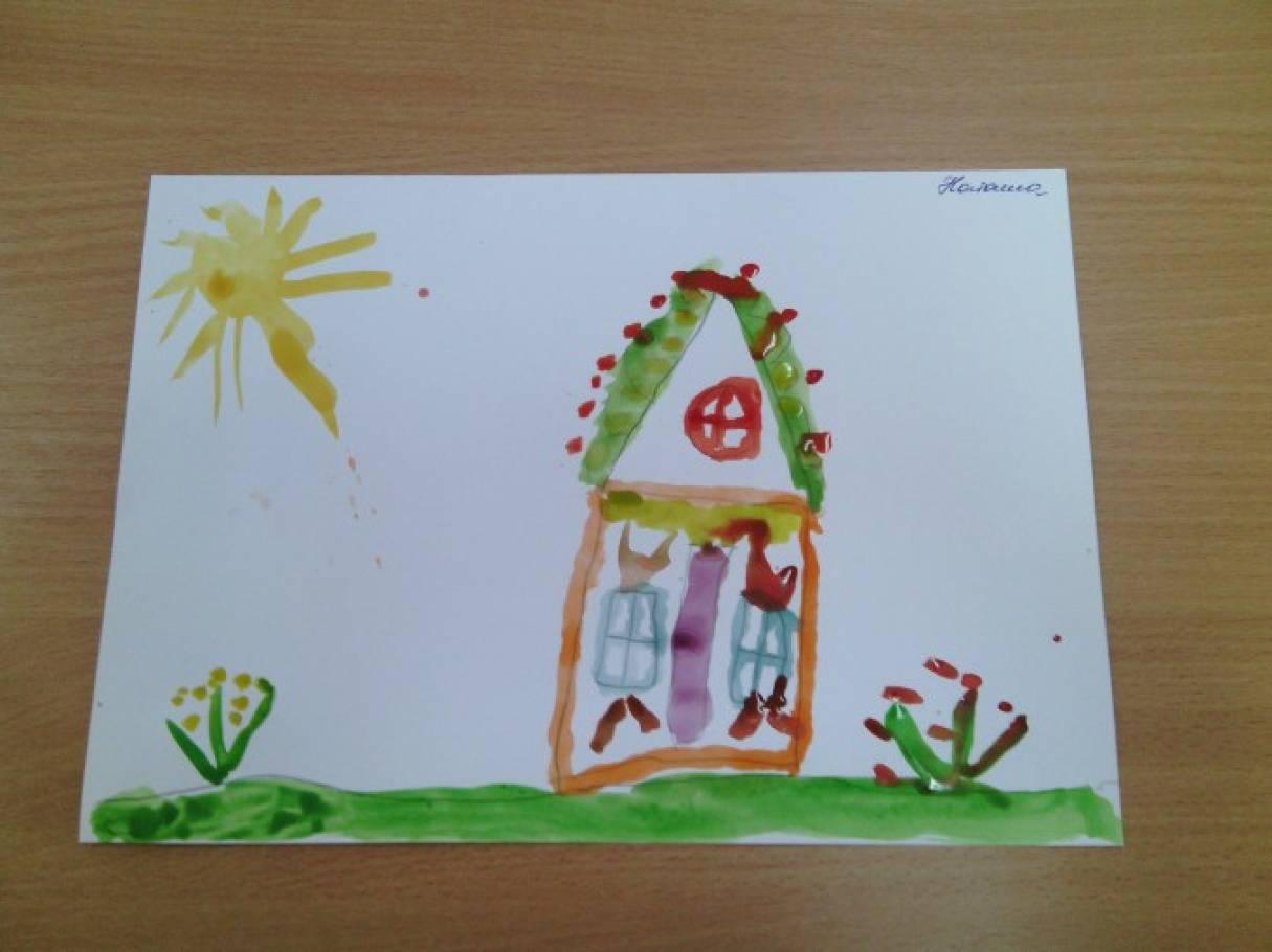 Фото деревянный зеленый домик в деревне