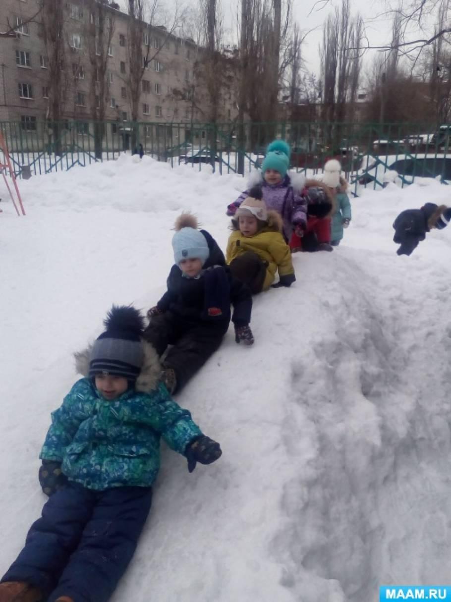 Фотоотчет конкурса построек из снега «Зимняя сказка»