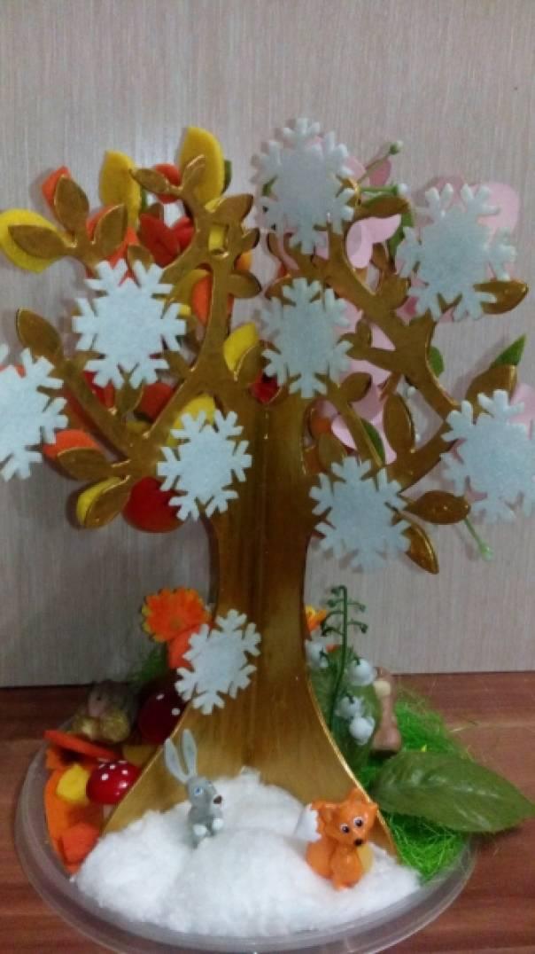 Сезонное дерево своими руками для детского