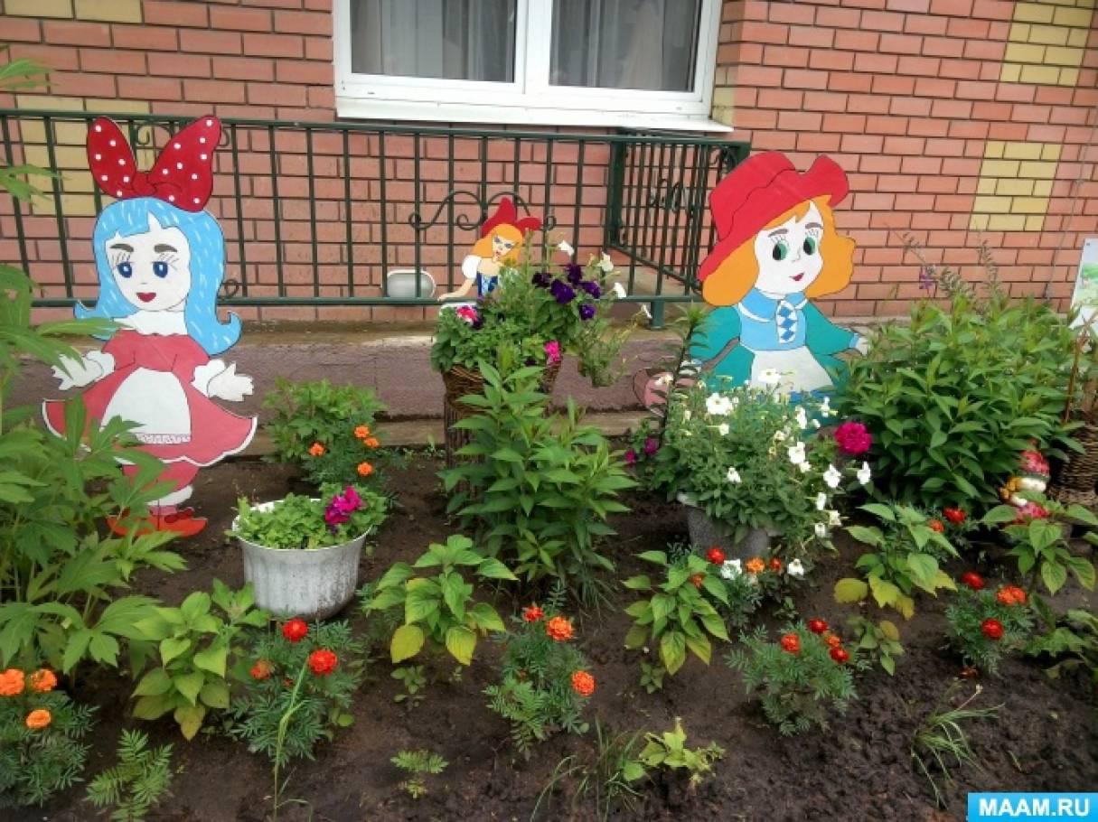 Клумбы и цветники своими руками для детского  121