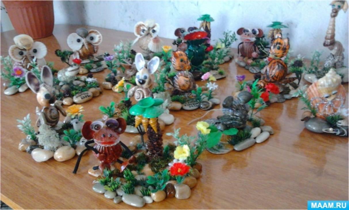 Творчество педагога. Сувениры из ракушек