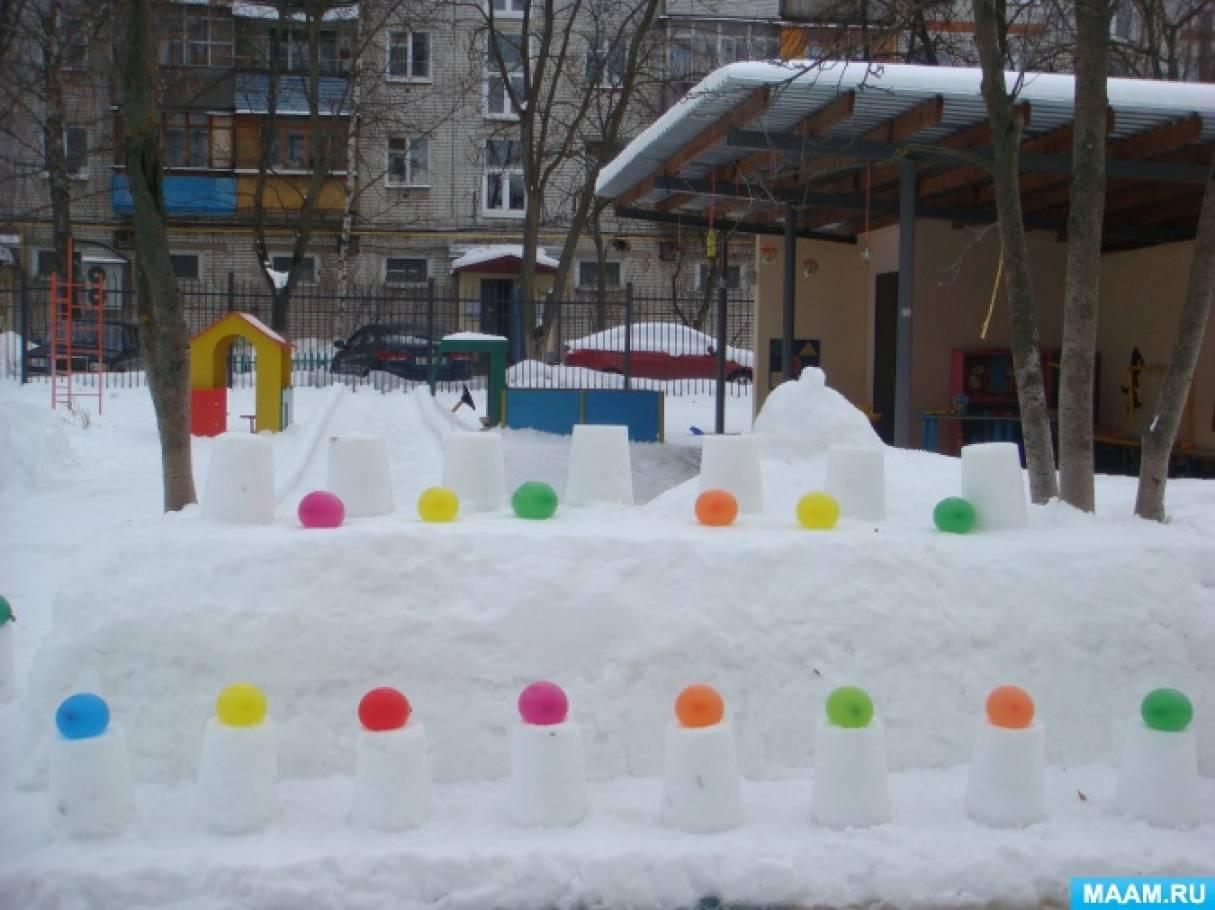 Украсим участок своими руками зимой