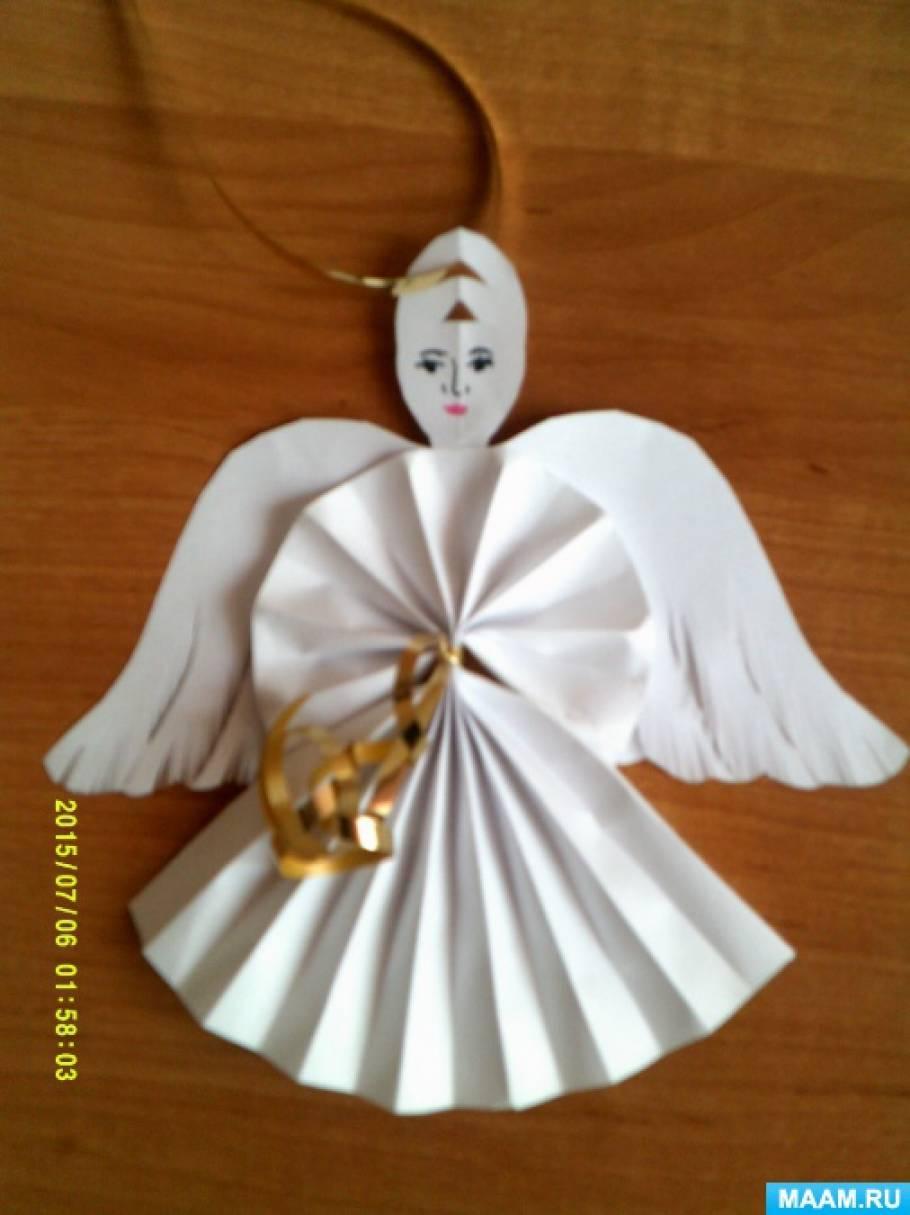 Мастер-класс для совместного творчества педагога и детей 6–7 лет «Рождественский ангел»