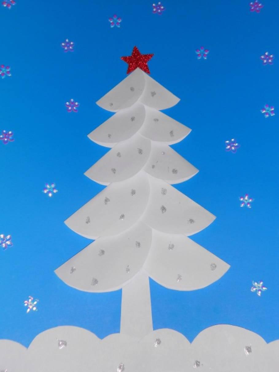 «Рождественская елочка». Мастер-класс объёмной аппликации