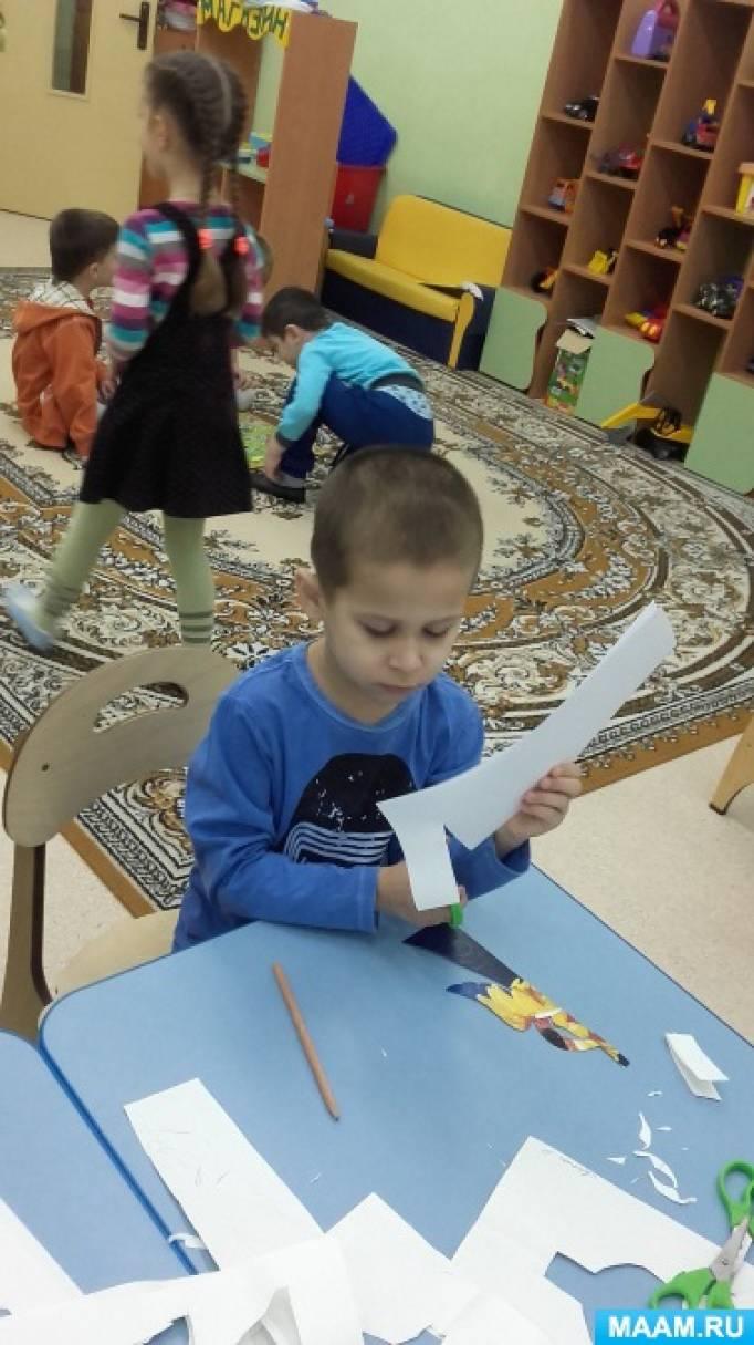 Конспект занятия по конструированию из бумаги в подготовительной группе «Рождественский Ангел»
