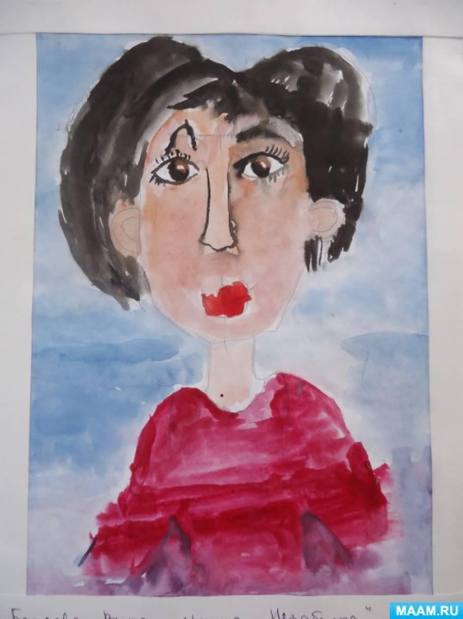 Занятие по рисованию в подготовительной группе «Портрет мамы»