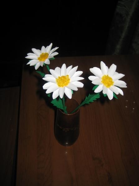 Поделка ромашка в садик