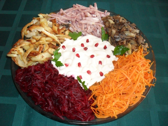 Салат у всех на виду рецепт