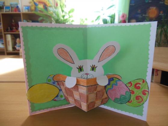 Как сделать открытку на пасху из бумаги
