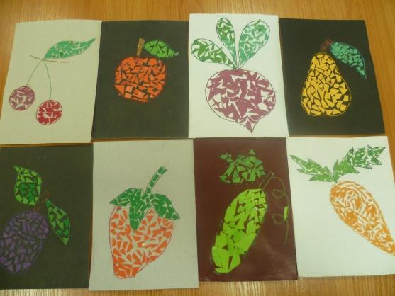 Аппликации на тему овощей